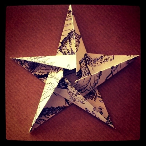 Made: Origami Star Christmas Cards | Mathilde heart Manech - photo#26